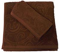 Махровое полотенце жаккардовое 70*140, 500 г/м2, Пакистан, Шоколад Chocolat