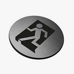 "Табличка кругла ""Вихід"" Stainless Steel"