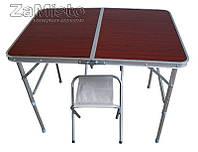 "Cкладной стол ""Чемодан"" + 2 стула MV 0010, фото 1"