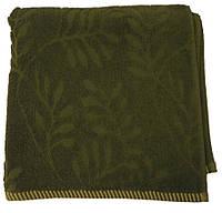 Махровое полотенце жаккардовое 70*140, 500 г/м2, Пакистан, Оливка Khaki