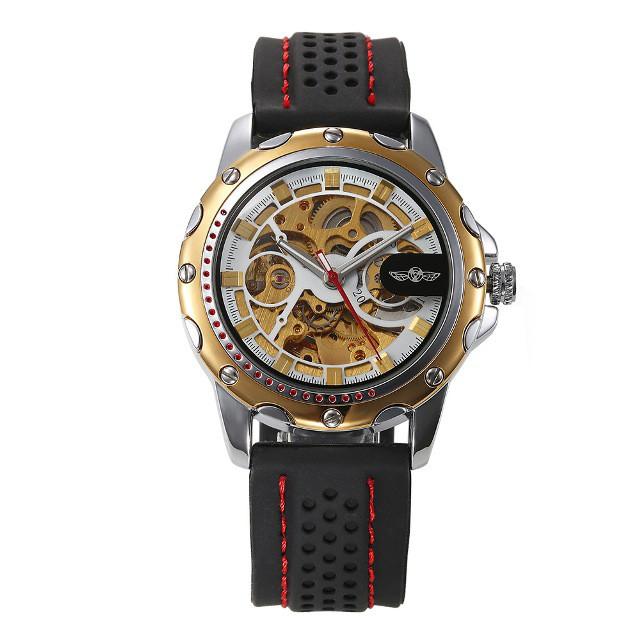 7d661f995cd4 Механические мужские часы WINNER PLATINUM GOLD - BROMAG.com.ua -  интернет-магазин