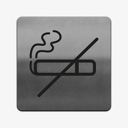 "Табличка ""Не курить"" Stainless Steel, фото 2"