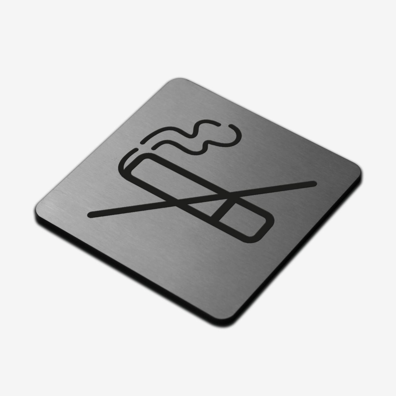 "Табличка ""Не курить"" Stainless Steel"