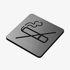 """Табличка """"Не палити"""" Stainless Steel"""