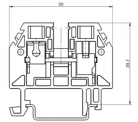 Клема гвинтова RSA 6 A сіра (A141211), фото 2