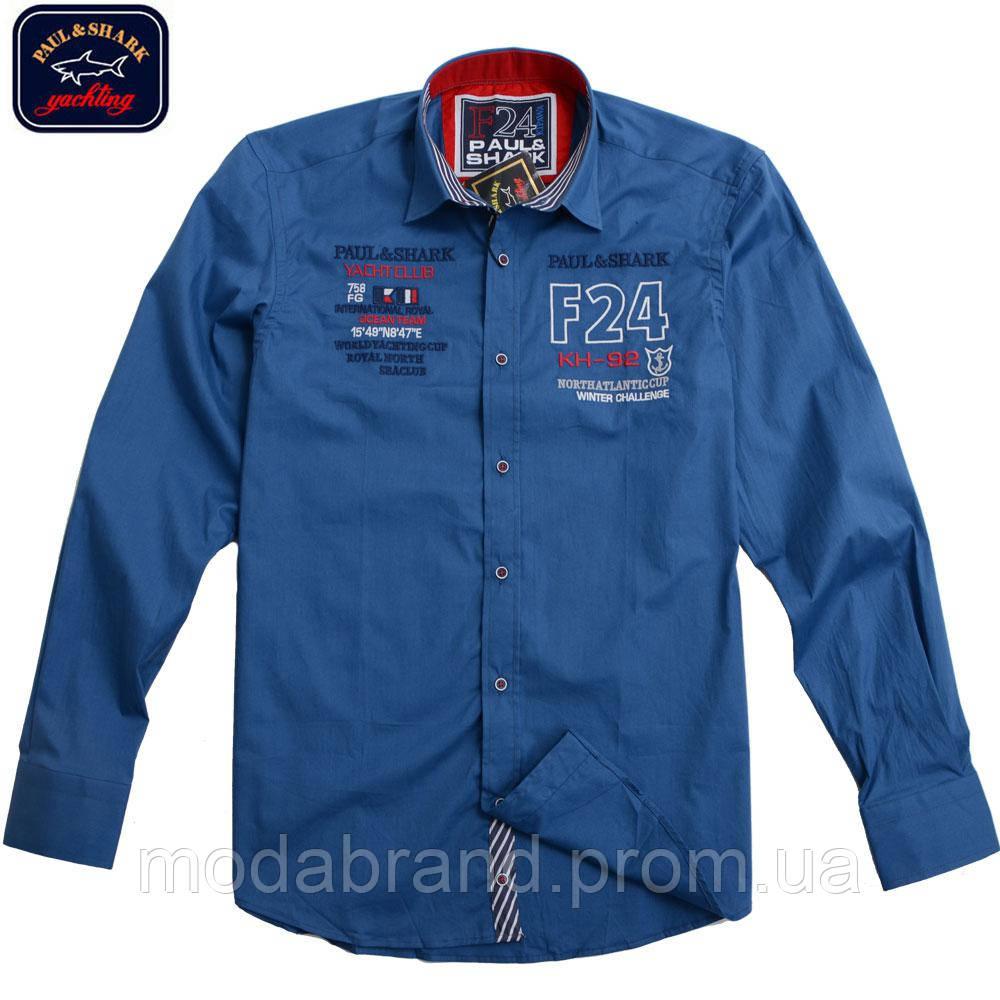 Стильная мужская рубашка Paul Shark-1499 синяя  продажа, цена в ... 6d85254d730