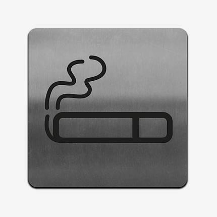 """Табличка """"Місце для куріння"""" Stainless Steel, фото 2"""