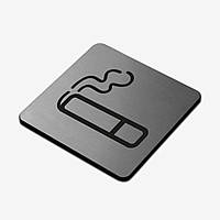 "Табличка ""Место для курения"" Stainless Steel"