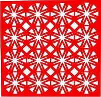 Трафарет Звезды, 18х18 см, многоразовый