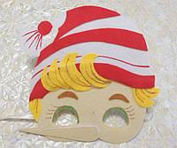 Карнавальная маска  Буратино