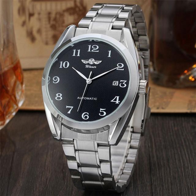 Механические мужские часы WINNER HANDSOME BLACK - купить по лучшей ... 03a6a03940a31