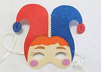 Карнавальная маска  Арлекин