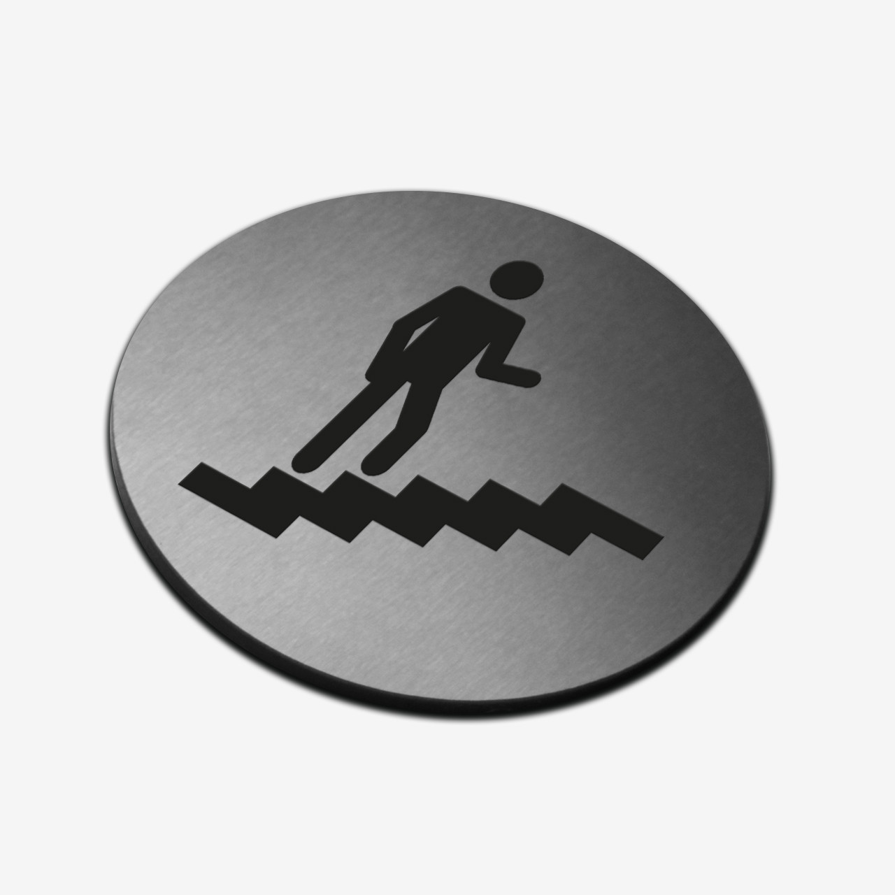 """Табличка кругла """"Навігаційна"""" Stainless Steel"""