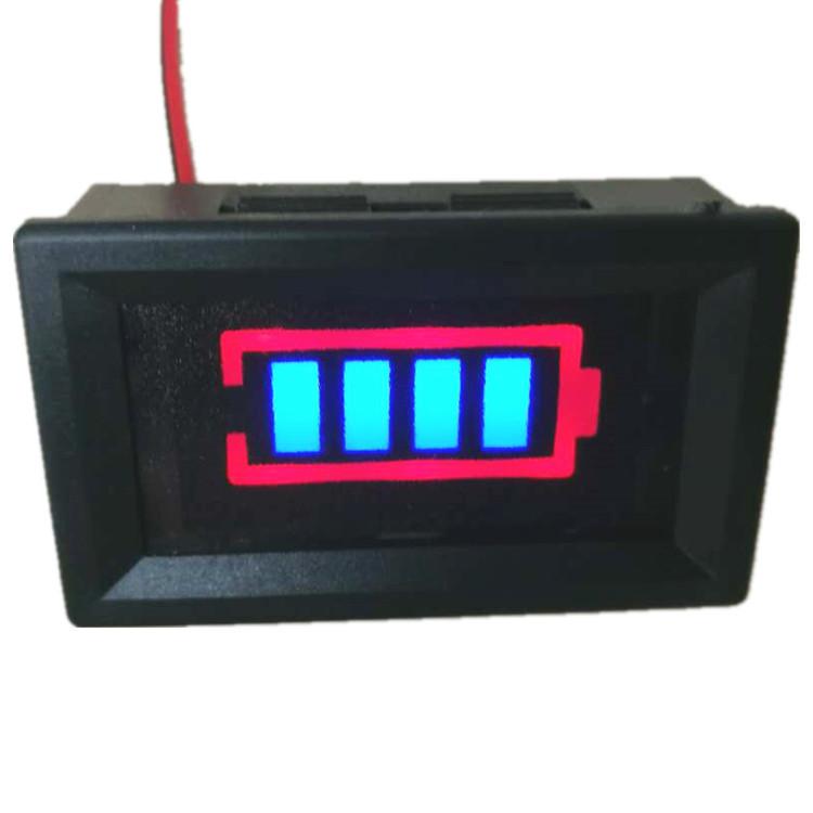 Индикатор (вольтметр) 12В заряда аккумулятора (Синий)