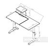 Парта-трансформер для школьника FunDesk Ballare Grey с выдвижным ящиком, фото 2