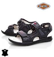 Босоножки, сандалии кожаные для мальчика р.32-37 ТM EeBb A9057 black
