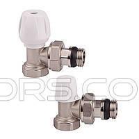 Вентиль угловой ручной  простой регулировки для железной трубы. Icma 802+940