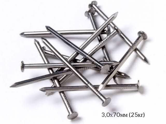 Гвозди строительные 3,0х70мм ЯЩИК (25кг)