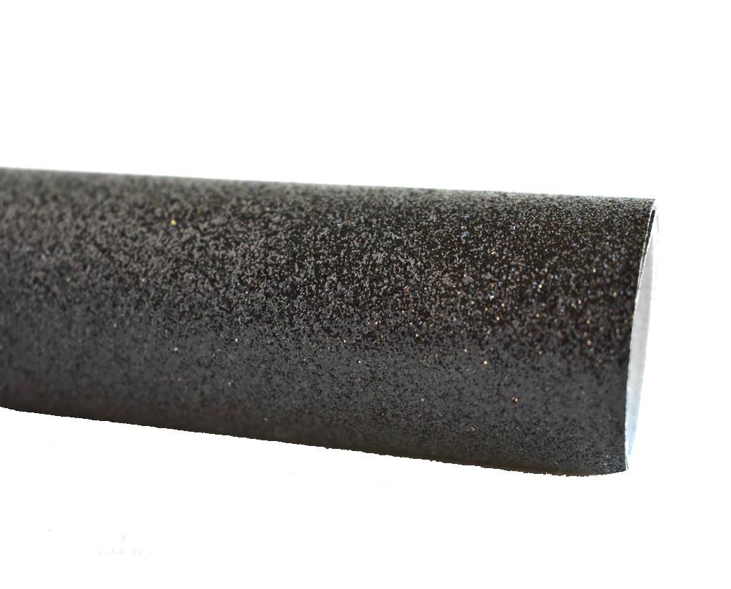 811925bbf43de Ткань с мелким глиттером (блестками) Черная искусственная кожа (кожзам)  20x25 см -
