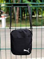 Барсетка мужская, сумка через плечо, черная