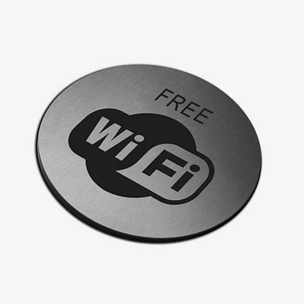 "Табличка кругла ""WI-FI"" Stainless Steel, фото 2"