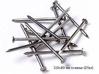 Гвозди строительные 3,0х40мм (толев) ЯЩИК (25кг)