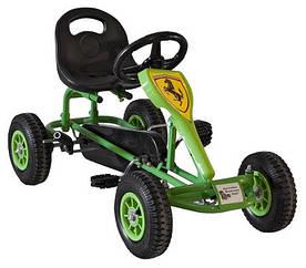 Веломобіль Childhood для дітей від 2 до 9 років і вагою до 45 кг ТМ KIDIGO Зелено-чорний VM1