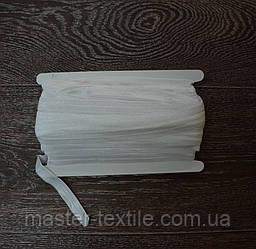Бейка Стрейчевая 15 мм, 50 ярдов, глянцевая (дымчатый белый)