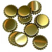 Кронен-пробки для стеклянных бутылок, золотая 50шт.