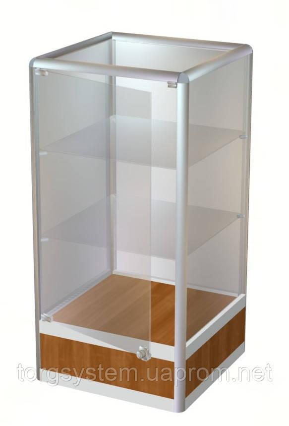 Торговый прилавок в каркасе с алюминиевого профиля 1000х500х500  №4
