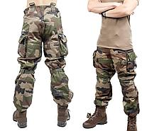 Штаны, брюки с встроенными наколенниками, на подтяжках, армии Франции, FELIN, оригинал, новые