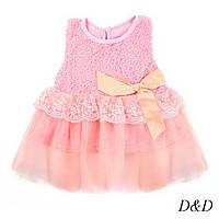 Детское платье бежевое для новорожденных