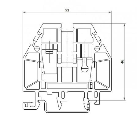 Клемма винтовая RSA 16 A серая (A161216), фото 2