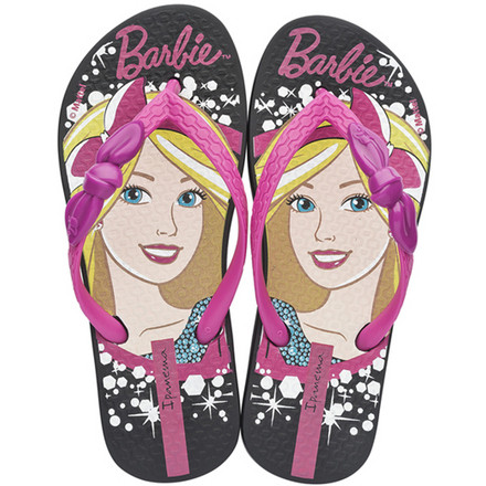 Оригинал Вьетнамки Детские для девочки 81884-23096  Ipanema Barbie Love Glitter Kids Black/Pink