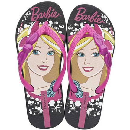 Оригинал Вьетнамки Детские для девочки 81884-23096  Ipanema Barbie Love Glitter Kids Black/Pink, фото 2