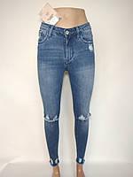 Джинсы женские голубые рваные/джинсы с высокой посадкой/модные молодежные джинсы Redress 2020