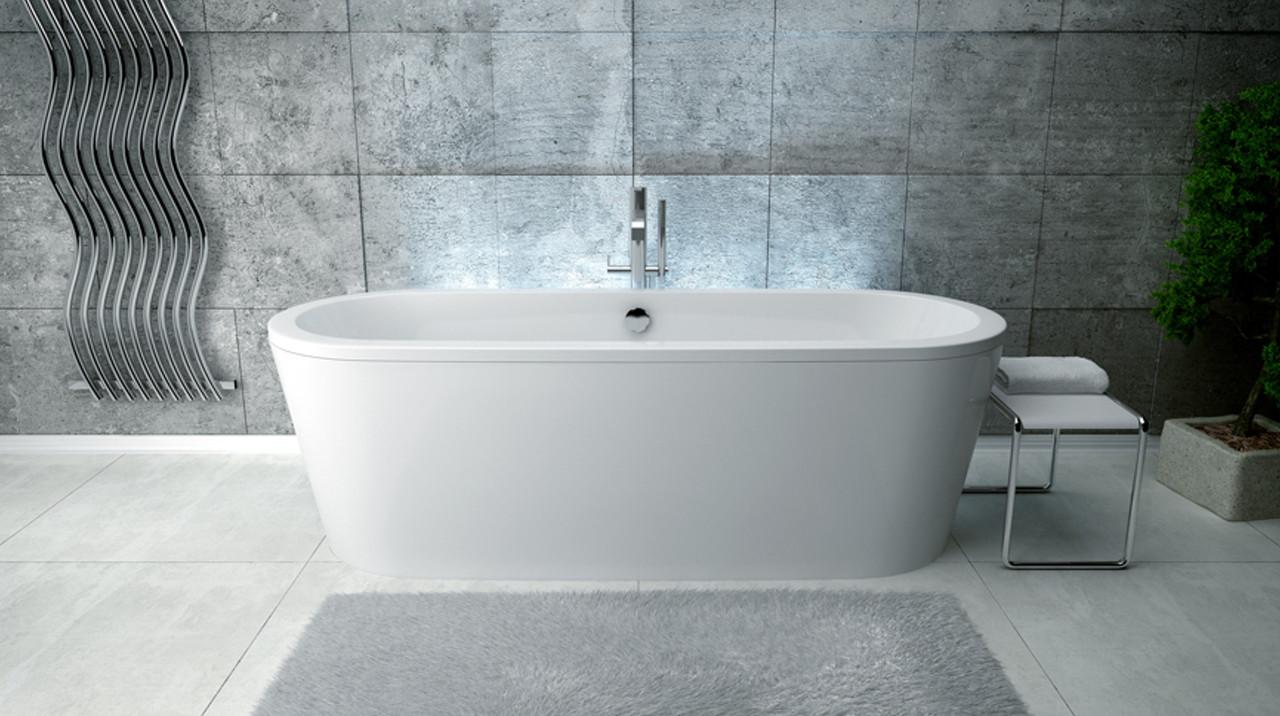 Ванна акриловая VICTORIA (ретро) с сифоном 160х75