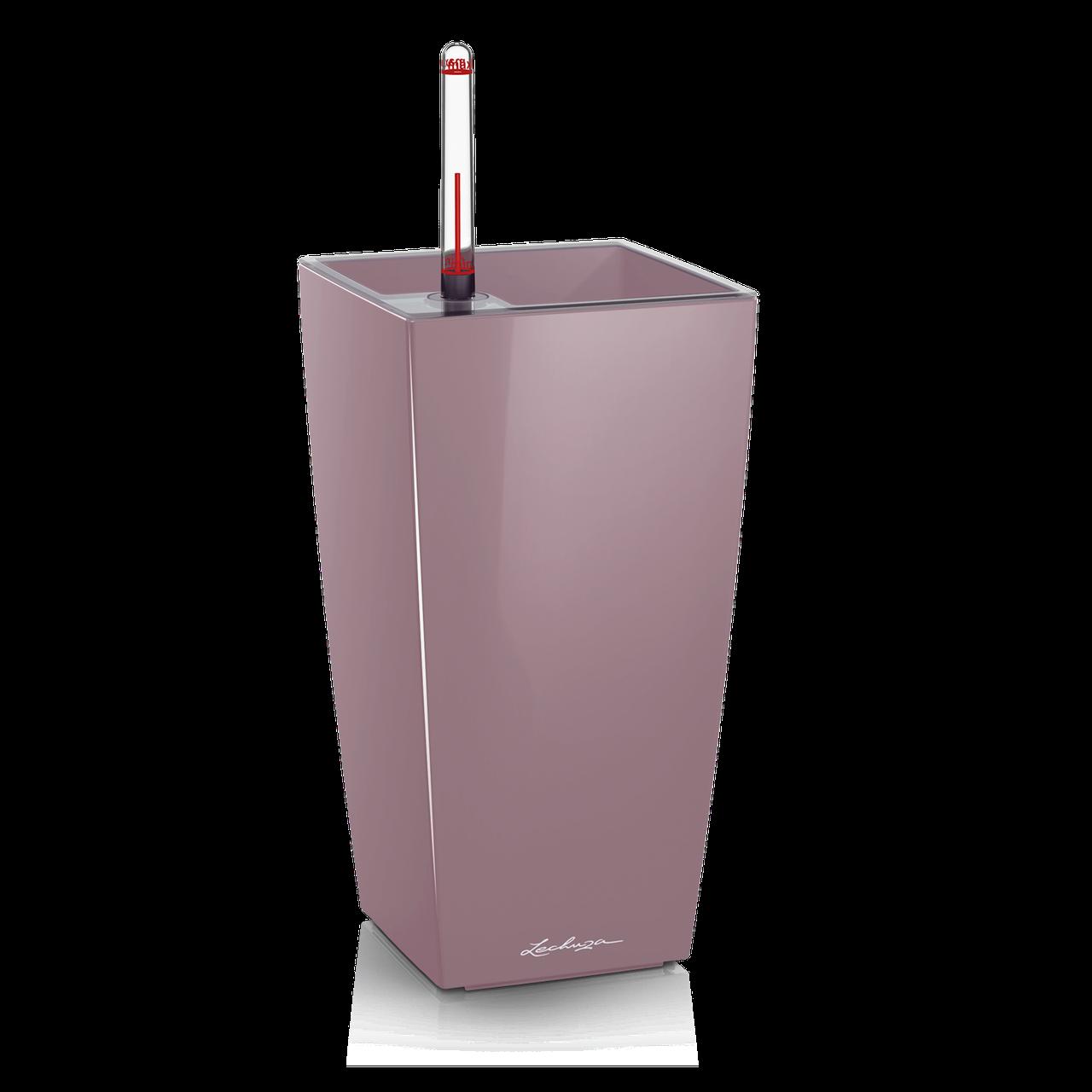 Вазон с кашпо и гидросистемой Maxi Cubico фиалковый