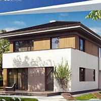 Жилой дом по технологии ЛСТК . Цена под ключ площадь дома 169 кв.м.