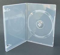 Бокс для 1 DVD диска 9mm полупрозрачный трей, глянцевая пленка