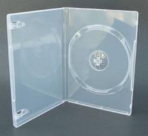 Бокс для 1 DVD диска 9mm напівпрозорий трей, глянцева плівка