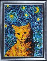 """Набор для вышивания бисером №640 """"Звездный кот"""""""