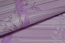 Обои, обои на стену, цветы, розовый, акриловые на бумажной основе, B76,4 Марго 7019-06, 0,53х10м, фото 2