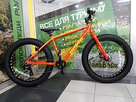 "Велосипед Pride 26"" DONUT 6.1 2018 рама-L помаранч/жовтий SKD-19-52"