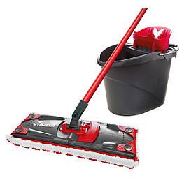 Комплект для уборки Vileda UltraMax Flat Mop черно-красный