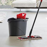 Комплект для уборки Vileda UltraMax Flat Mop черно-красный, фото 4