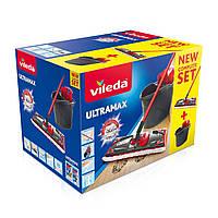 Комплект для уборки Vileda UltraMax Flat Mop черно-красный, фото 2
