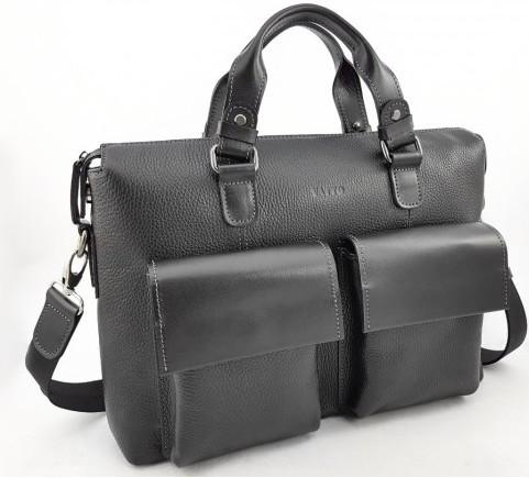 Мужская сумка из натуральной кожи VATTO Mk25 F8Kaz1, черный