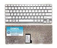 Оригинальная клавиатура для ноутбука Sony Vaio VPC-CA series, ru, white, без рамки