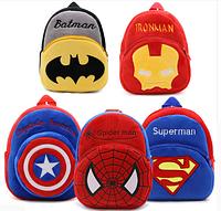 Детские плюшевые рюкзаки для детей 1-6 лет Супермен Бетмен и др.